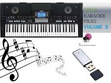 MIDI File Karaoke USB stick for PSR S650 S670 Vol 3 NEW