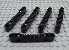 LEGO Technic - 5x Zahnstange 1x7 schwarz / Gear Rack 1x7 black NEU 87761 8110