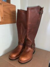 17 inch engineer boots brown mens