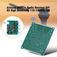 Airband Aviation Radio Receiver DIY Kit High Sensitivity VHF 118-136MHz AM 12V