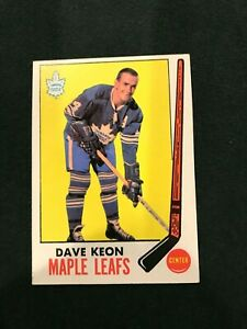1969-70 TOPPS HOCKEY Dave Keon # 51 Toronto Maple Leafs HOF