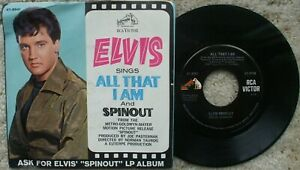 """Elvis Presley - Spinout / All That I Am - 47-8941- USA 45 + RARER """"ASK FOR"""""""