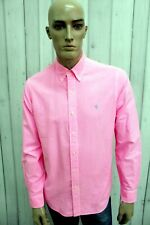 RALPH LAUREN Camicia Uomo Taglia M Cotone Shirt Chemise Casual Manica Lunga
