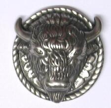 Concho Concha Büffel Bison Büffelkopf Western Indianer zum Schrauben silbern