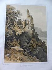 Schloß Burg Lichtenstein Schwäbische Alb Lithographie Stieler um 1880