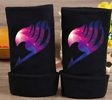 New Fairy Tail Cosplay Gloves Warm Fingerless Mitten Cotton Knitted Gloves hot