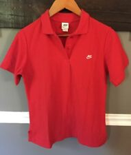 New listing Nike Vintage Orange Swoosh Tag Embroidered Polo Shirt Logo M Red