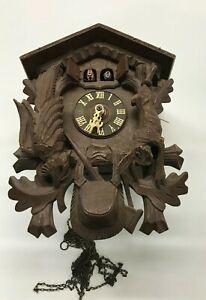 Cuckoo Clock Taken Apart, Movement, 2-Cuckoo Birds - SELLING AS PARTS !!!