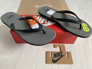 *BNIB* Mens Nike Solarsoft Thong 2 UK9 *NEVERWORN* Flip Flops Foam Comfort Grey