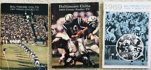 1968 1967 1969 BALTIMORE COLTS Yearbook MEDIA GUIDE / YEARBOOK JOHNNY UNITAS