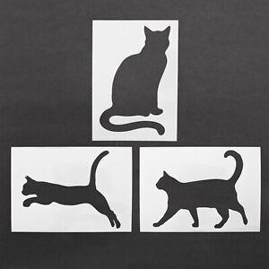 Cat Stencil Cats Kittens Mylar Sheet Painting Wall Art Craft Airbrush 190 Micron