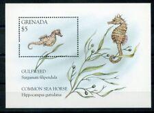 468671) Grenada Block 404 **, Meerestiere, Seepferdchen