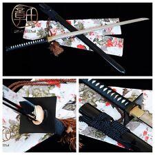 Unique Japanese samurai sword ninja katana manganese steel straight knife#0011