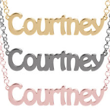 Personalised Any Name Necklace Gold Plated Belcher Chain 925 Sterling Silver