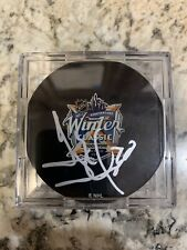 GAME USED 2018 WINTER CLASSIC PRACTICE PUCK NY Rangers HENRIK LUNDQVIST Signed