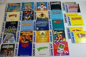 26 Nintendo Game Boy Color Advance Instruction Booklet Manual Lot