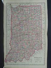 Antique Map, 1876, O.W. Gray, Indiana