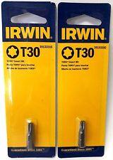 """Irwin Tools 3513331C TX30 x 1"""" Torx Insert Screw Bit Tip 2PKS"""