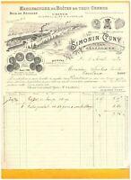 "GERARDMER & DIEUE (88 / 55) USINE BOISSELLERIE / BOITES ""SIMONIN & CUNY"" en 1913"