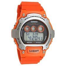 Reloj Casio Caballeros Digital W-214H -4 AVEF Naranja Correa de resina Ganga