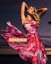 Silk Asymmetric Floral Dresses for Women