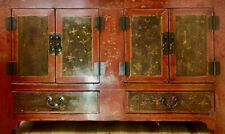 Chinese Red Lacquered Sideboard - 19th Century