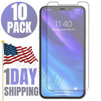 10x Lot Wholesale Bulk iPhone 11 SE XR 8 7 Plus Tempered Glass Screen Protector