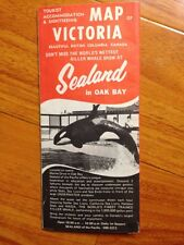 Vtg 1970s Victoria British Colombia Canada travel sightseeing map brochure