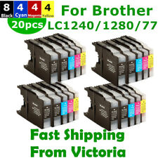 20X Ink LC40 LC73 LC77 LC1240 LC1280 XL for Brother MFC-J430W J432W J625DW J825D