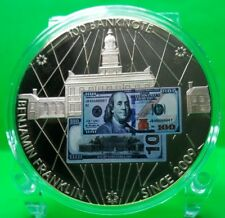 $100 BENJAMIN FRANKLIN BANKNOTE COMMEMORATIVE COIN PROOF VALUE $89.95
