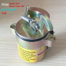 Shut off solenoid 04170534R For Deutz 1011 Motor Case 360 Backhoe