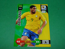 ADRIANO BRASIL BRESIL PANINI FOOTBALL FIFA WORLD CUP 2010 CARD ADRENALYN XL