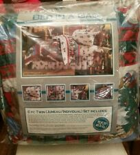 New Dan River 6 Pc Bed In A Bag Twin Comforter Set Victorian Christmas Design