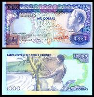 ST. THOMAS & PRINCE 1000 DOBRAS 1993 P 64 UNC