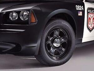 "DODGE CHARGER CHALLENGER CHRYSLER 300 POLICE STEEL BLACK WHEEL 18"" X 7.5"" MOPAR"