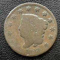1823 Large Cent Coronet Head One Cent 1c Circulated #5230