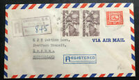1953 Vancouver Canada Airmail Cover To Bern Switzerland Crippled Children Seal