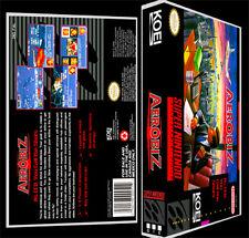 Aerobiz - SNES Reproduction Art Case/Box No Game.