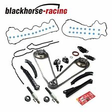 Fits 5.4L Triton 3V Ford F150 Lincoln Timing Chain Kit+Cam Phasers+VVT Valves