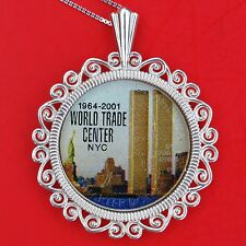 2001 9/11/2001 New Yook State Quarter Colorized Coin Sterling Silver Necklace