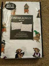 Cynthia Rowley Halloween Dachshund Pillowcases Standard NEW Trick or Treat Bags