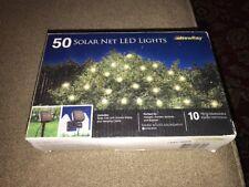 Solar String Lights, 50Led White Programmable Flash Patterns (CT)