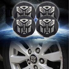 4pcs Transformers Autobots 56mm Car Steering Wheel Center Hub Cap Emblem Sticker
