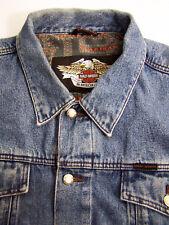 Harley Davidson Denim Jacket Men's XL Extra Large Vintage LJKTk289 #