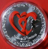"NIUE 2 Dollars 2013 ""LOVE"" Silber 1 Oz #F3809 Colored PP-Proof Nur 5.000"