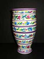 Onglaze of South Kensington Porcelain Faience Pottery Handpainted Colorful Vase