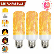 3 Pack LED Flame Effect Fire Light Bulb E27 Simulated Nature Flicker Lamp Decor