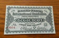 Philadelphia International Exhibition – Package Ticket – 1876