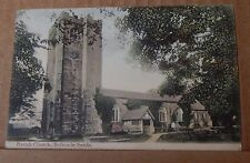 Postcard Parish Church Bolton Le Sands Early Colour Card posted 1905
