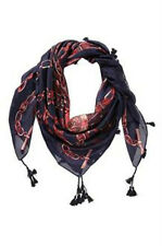 foulard en soie JUS D'ORANGE marine/rouge/rose 100 x 100 cm - neuf